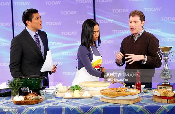Carl Quintanilla Kiira Hall and Bobby Flay appear on NBC News' 'Today' show