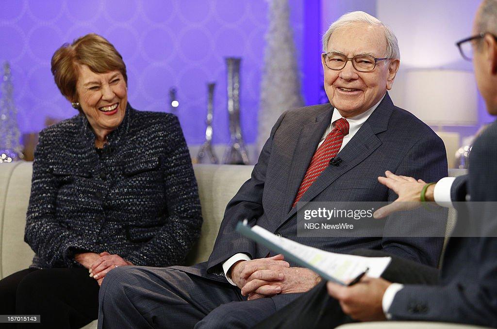 Carol Loomis and Warren Buffett appear on NBC News' 'Today' show --