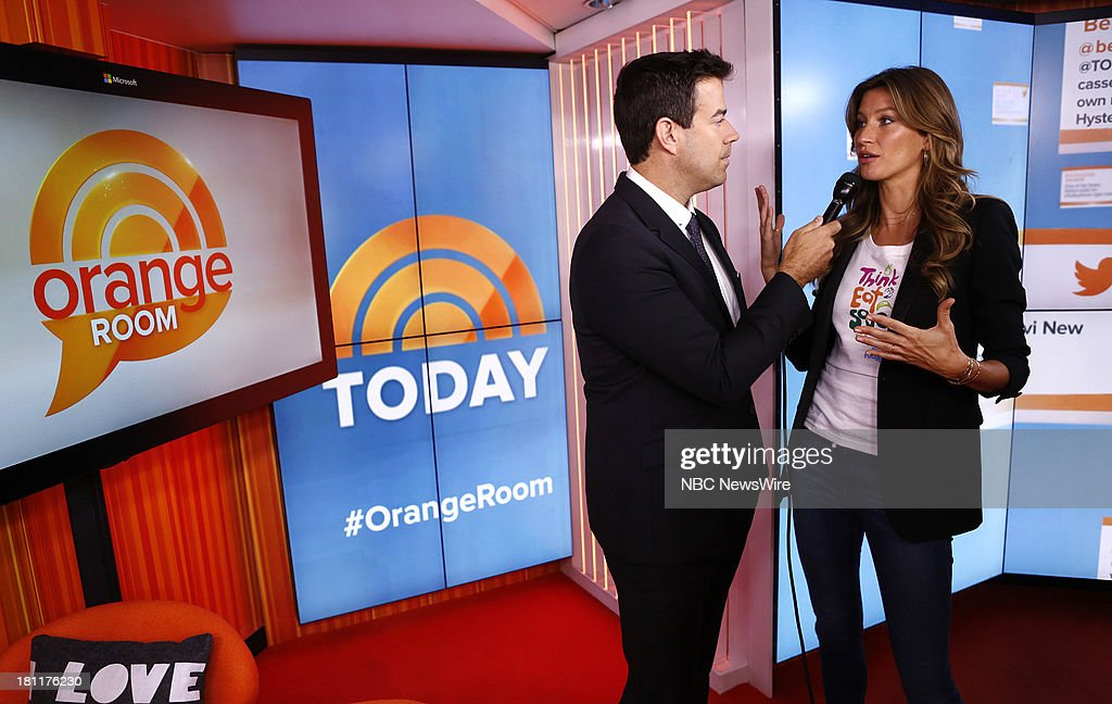 Carson Daly and Gisele Bundchen appear on NBC News' 'Today' show --