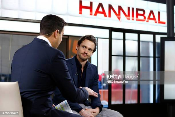 Carson Daly and Hugh Dancy appear on NBC News' 'Today' show