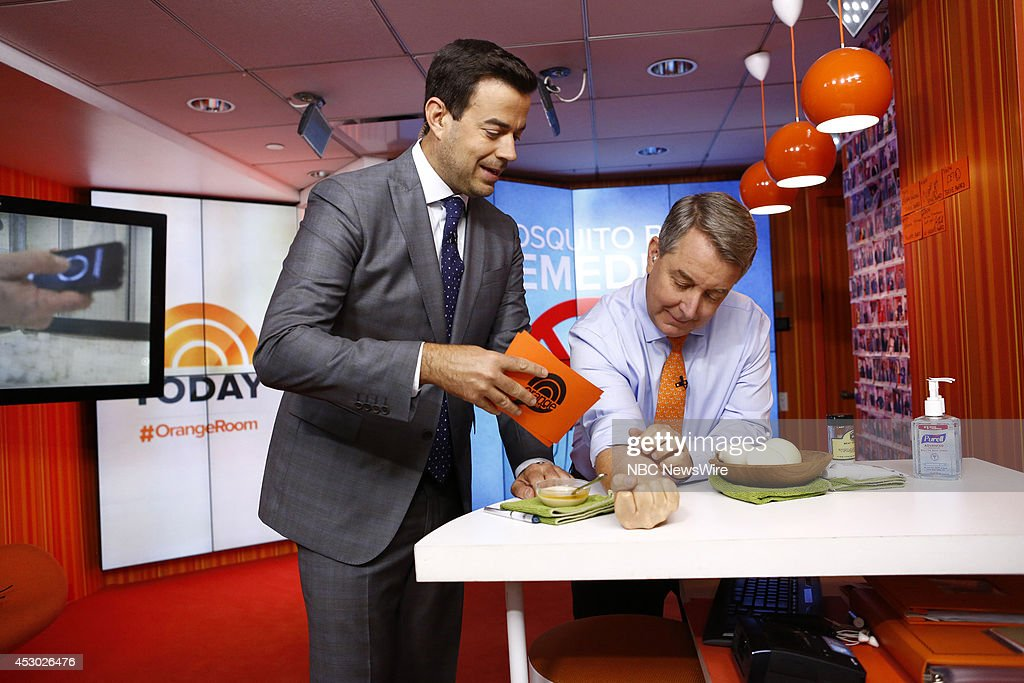 Carson Daly and Kerry Sanders appear on NBC News' 'Today' show --