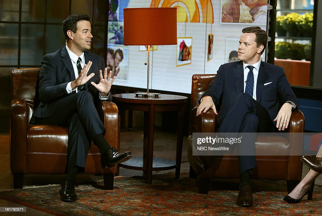 Carson Daly and Willie Geist appear on NBC News' 'Today' show --
