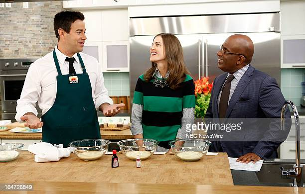 Carson Daly girlfriend Siri Pinter and Al Roker appear on NBC News' 'Today' show on March 27 2013