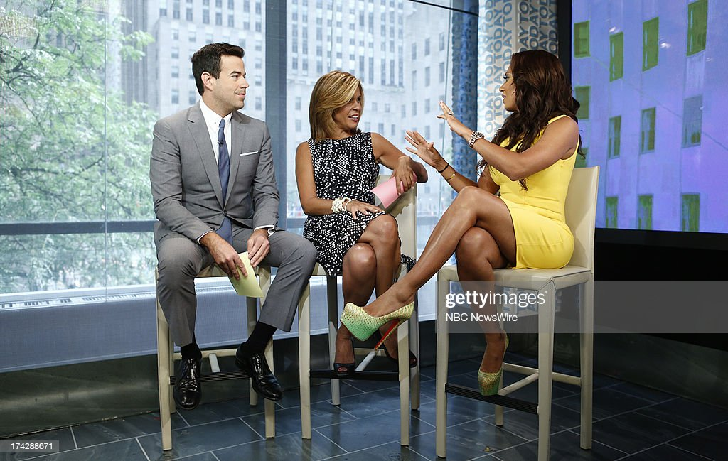 Carson Daly, Hoda Kotb and Melanie Brown (Mel B) appear on NBC News' 'Today' show --