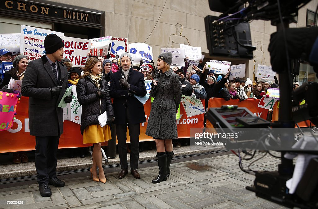 Carson Daly, Natalie Morales, Matt Lauer and Savannah Guthrie appear on NBC News' 'Today' show --
