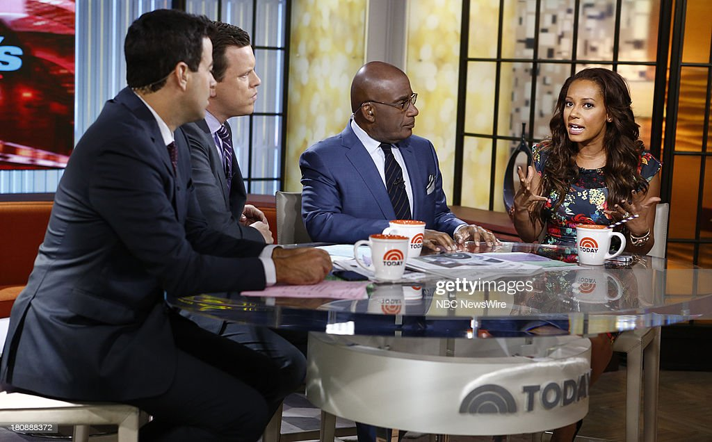 Carson Daly, Willie Geist, Al Roker and <a gi-track='captionPersonalityLinkClicked' href=/galleries/search?phrase=Melanie+Brown&family=editorial&specificpeople=159736 ng-click='$event.stopPropagation()'>Melanie Brown</a> (Mel B) appear on NBC News' 'Today' show --