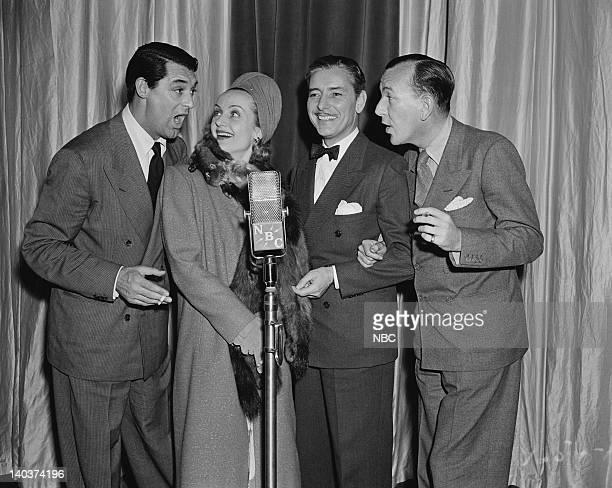 Cary Grant Carol Lombard Ronald Colman Noel Coward Photo by NBCU Photo Bank