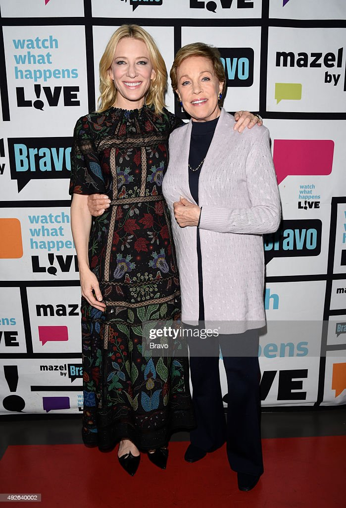 "Bravo's ""Watch What Happens Live!"" With Guests Cate Blanchett, Julie Andrews"