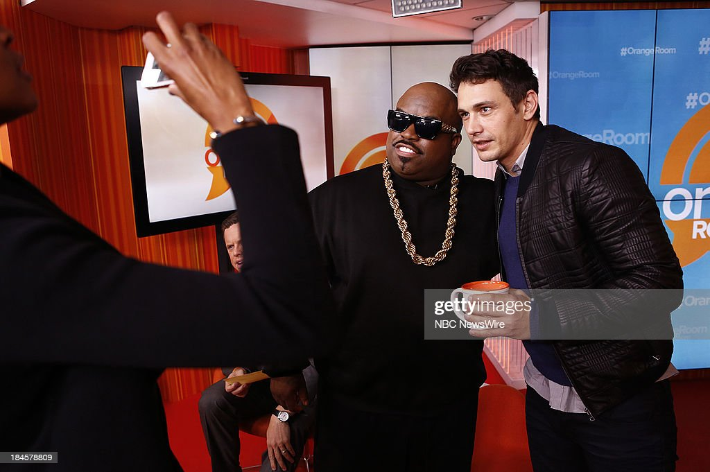 CeeLo Green and James Franco appear on NBC News' 'Today' show --
