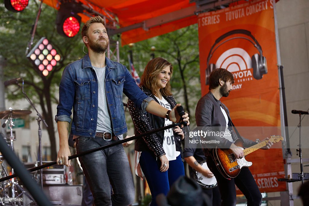 Charles Kelley, Hillary Scott, Dave Haywood of Lady Antebellum appear on the 'Today' show on Tuesday, October 30, 2014 --