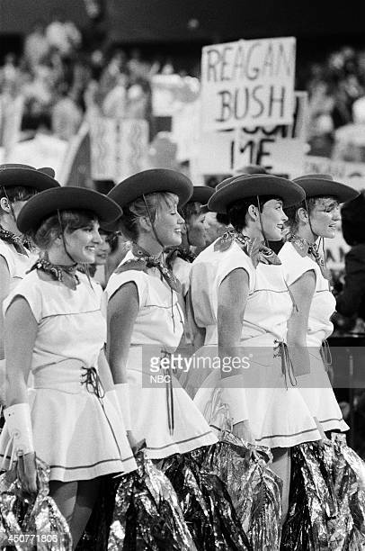 Cheerleaders at the 1984 Republican National Convention held at the Dallas Convention Center in Dallas TX on August 23 1984