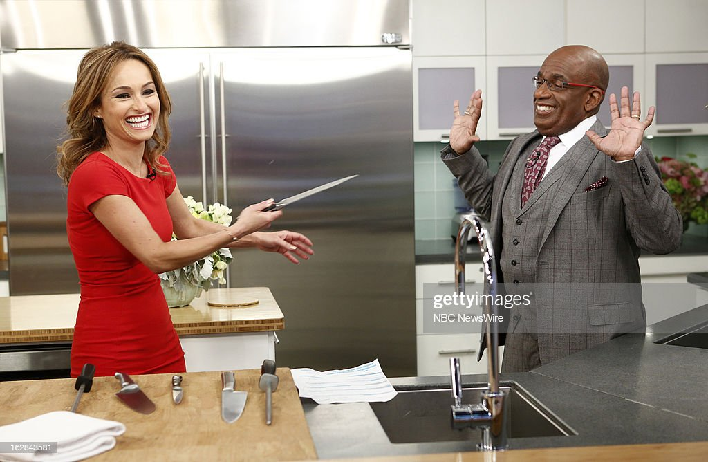 Chef Giada de Laurentiis and NBC News' <a gi-track='captionPersonalityLinkClicked' href=/galleries/search?phrase=Al+Roker&family=editorial&specificpeople=206153 ng-click='$event.stopPropagation()'>Al Roker</a> appear on NBC News' 'Today' show on February 28, 2013 --