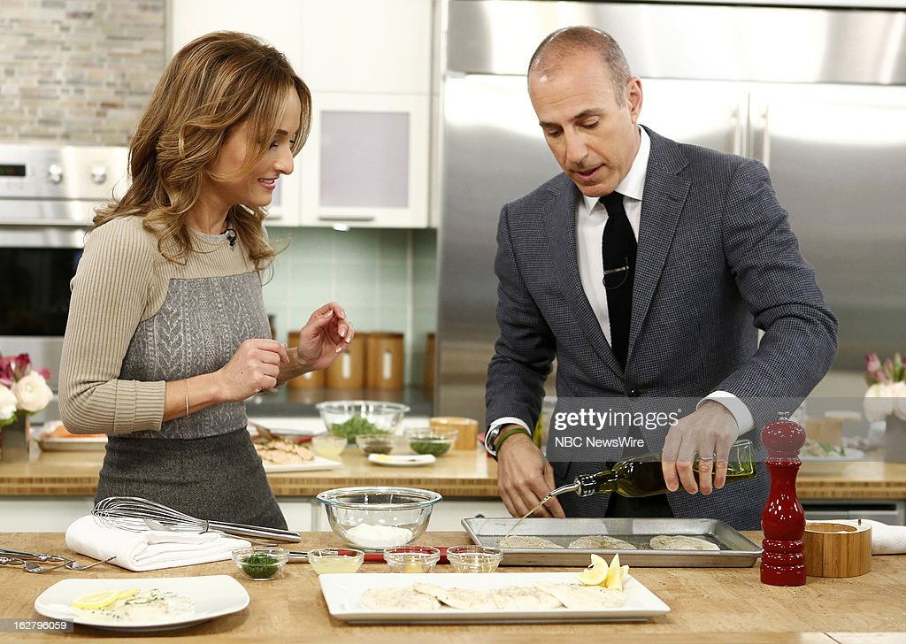 Chef Giada de Laurentiis and NBC News' Matt Lauer appear on NBC News' 'Today' show on February 27, 2013 --