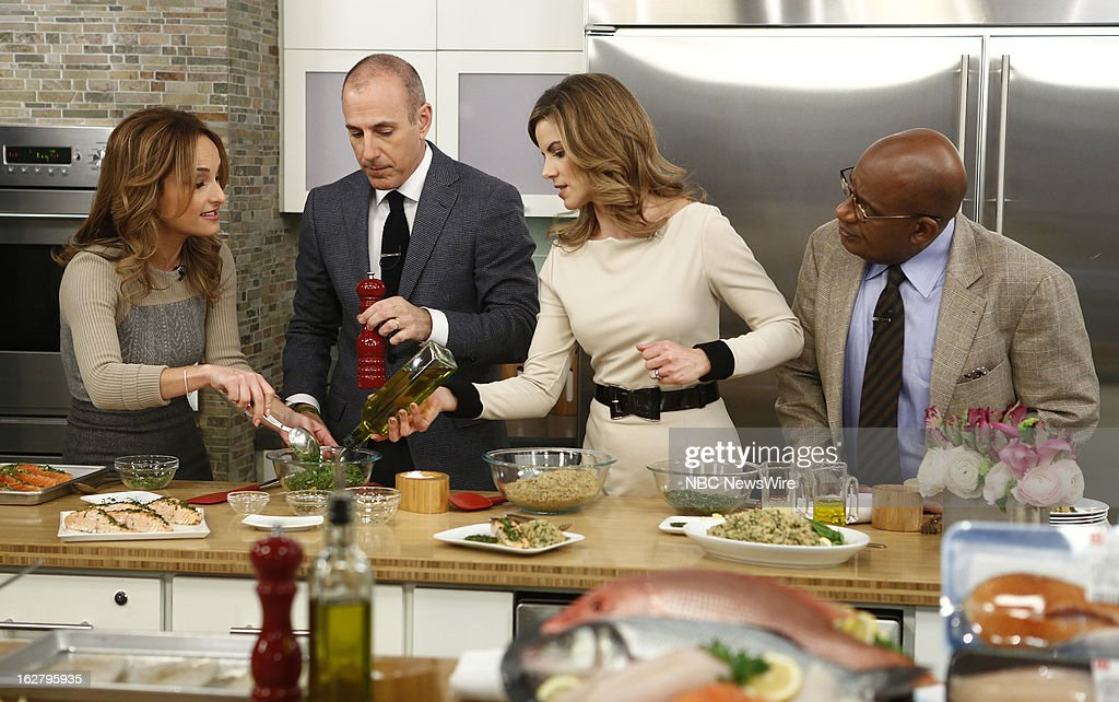 Chef Giada de Laurentiis, NBC News' Matt Lauer, Natalie Morales and Al Roker appear on NBC News' 'Today' show --