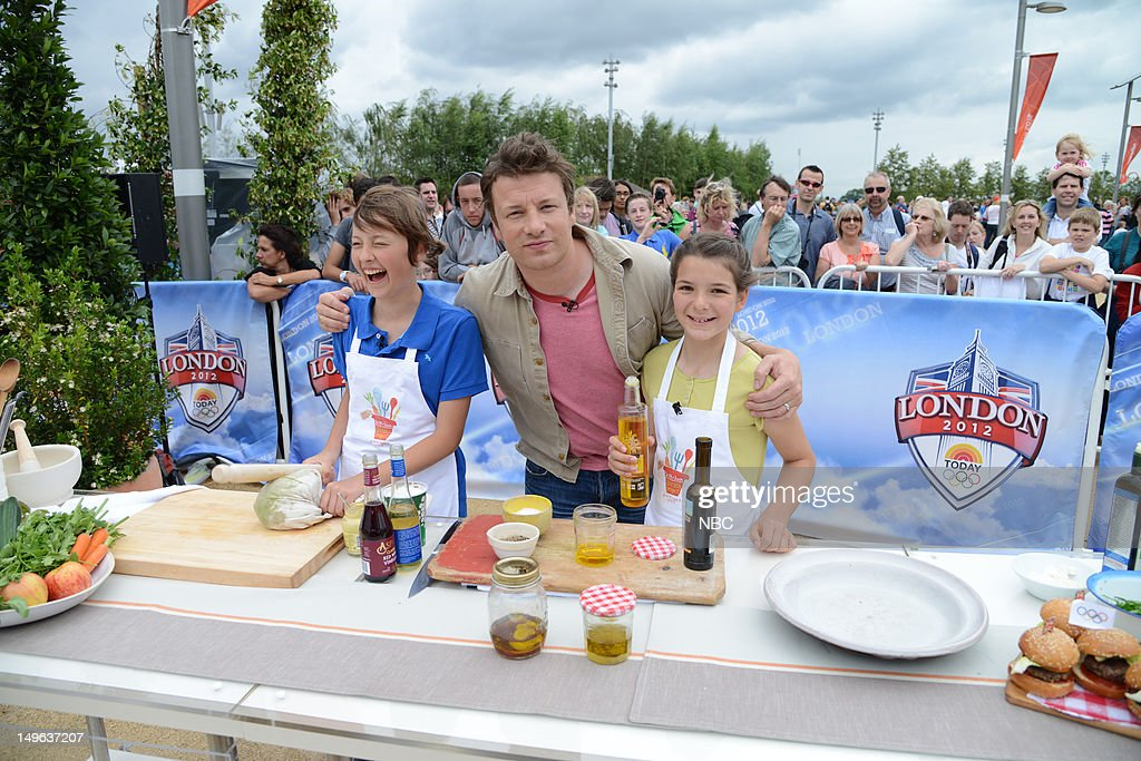 Chef Jamie Oliver during the 2012 Summer Olympic Games on July 31, 2012 in London, England --