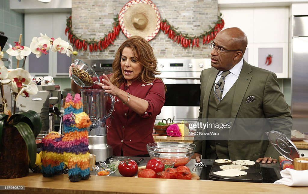 Chef LaLa and <a gi-track='captionPersonalityLinkClicked' href=/galleries/search?phrase=Al+Roker&family=editorial&specificpeople=206153 ng-click='$event.stopPropagation()'>Al Roker</a> appear on NBC News' 'Today' show --
