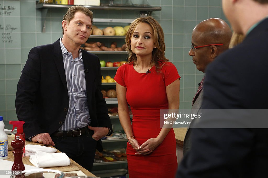 Chefs <a gi-track='captionPersonalityLinkClicked' href=/galleries/search?phrase=Bobby+Flay&family=editorial&specificpeople=220554 ng-click='$event.stopPropagation()'>Bobby Flay</a>, Giada de Laurentiis, NBC News'<a gi-track='captionPersonalityLinkClicked' href=/galleries/search?phrase=Al+Roker&family=editorial&specificpeople=206153 ng-click='$event.stopPropagation()'>Al Roker</a> appear on NBC News' 'Today' show on February 28, 2013 --