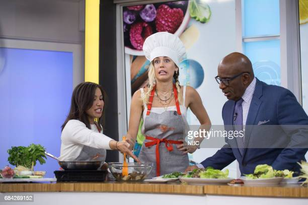 Chefs with Miley Cyrus and Al Roker on Wednesday May 17 2017
