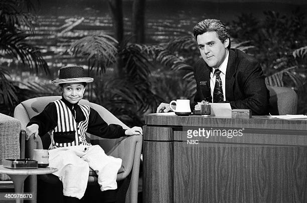 Child actor RavenSymone during an interview with guest host Jay Leno on March 5 1991