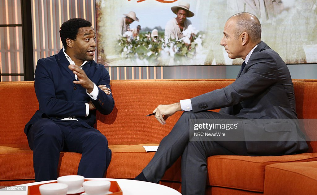 <a gi-track='captionPersonalityLinkClicked' href=/galleries/search?phrase=Chiwetel+Ejiofor&family=editorial&specificpeople=213998 ng-click='$event.stopPropagation()'>Chiwetel Ejiofor</a> and <a gi-track='captionPersonalityLinkClicked' href=/galleries/search?phrase=Matt+Lauer&family=editorial&specificpeople=206146 ng-click='$event.stopPropagation()'>Matt Lauer</a> appear on NBC News' 'Today' show --