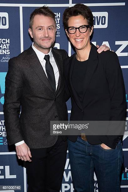 Chris Hardwick and Rachel Maddow