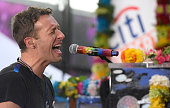 Chris Martin of Coldplay performs on the 'Today' show on Monday March 14 2016 from Rockefeller Plaza in New York