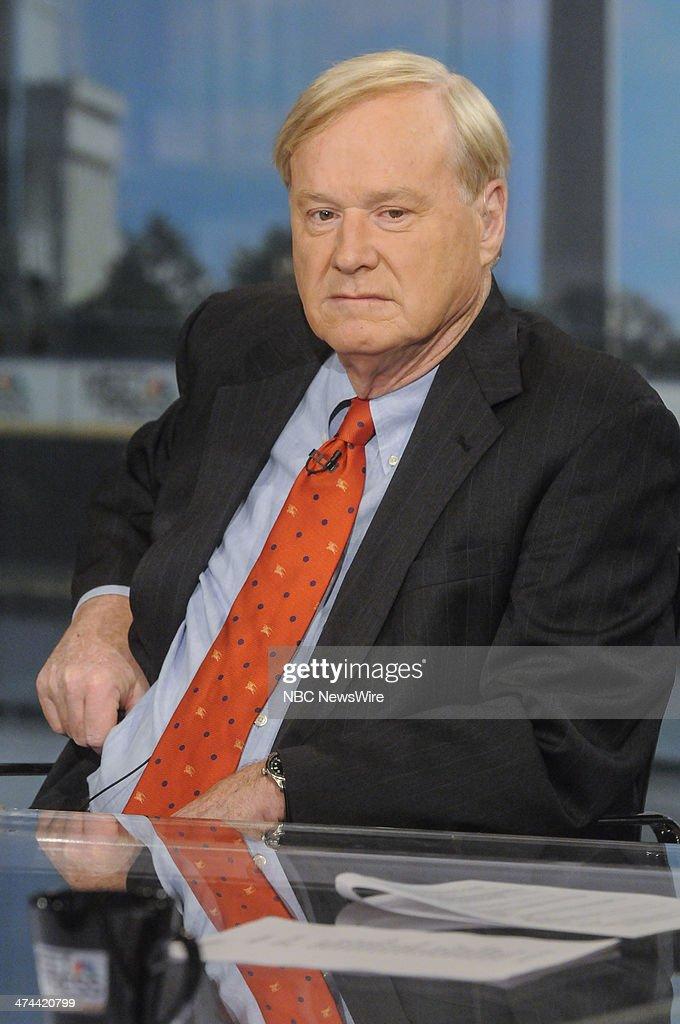 Chris Matthews, Host of MSNBCs Hardball' appears on 'Meet the Press' in Washington, D.C., Sunday, Feb. 23, 2014.