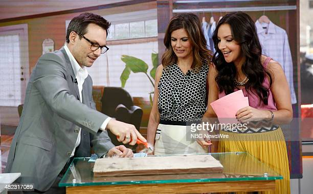 Christian Slater Natalie Morales and Brit Moran appear on NBC News' 'Today' show