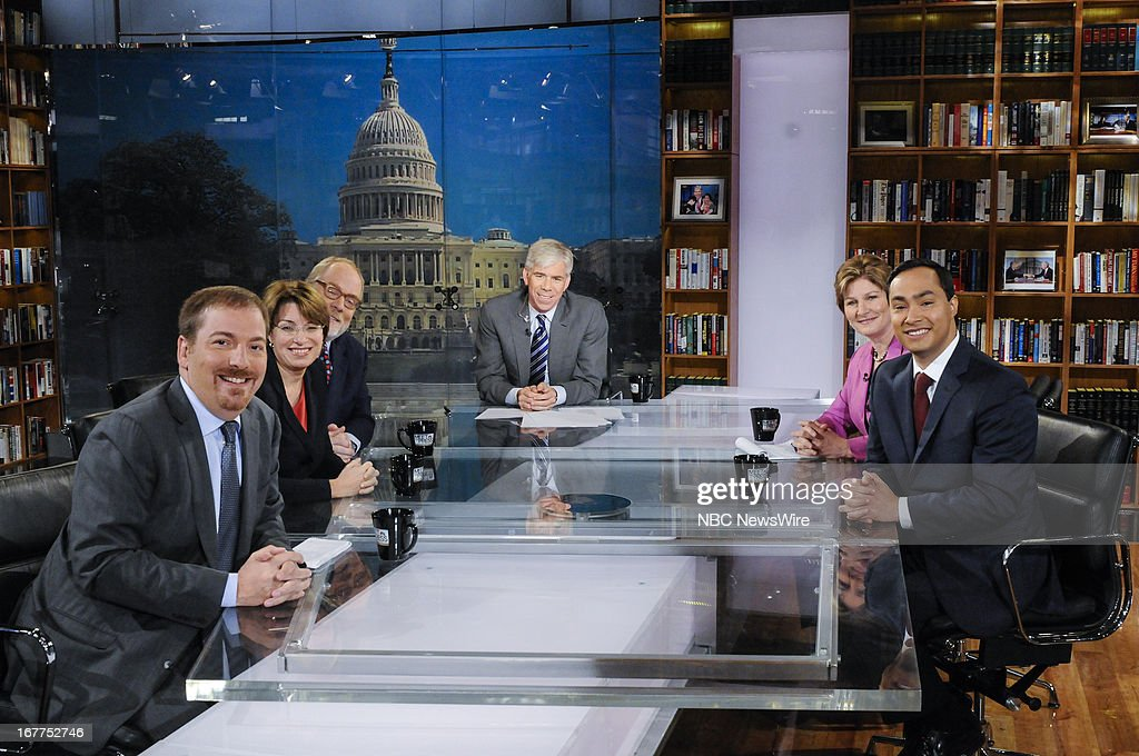 Chuck Todd Political Director NBC News Sen Amy Klobuchar Mike Murphy Republican Strategist moderator David Gregory Karen Hughes Fmr Counselor to...