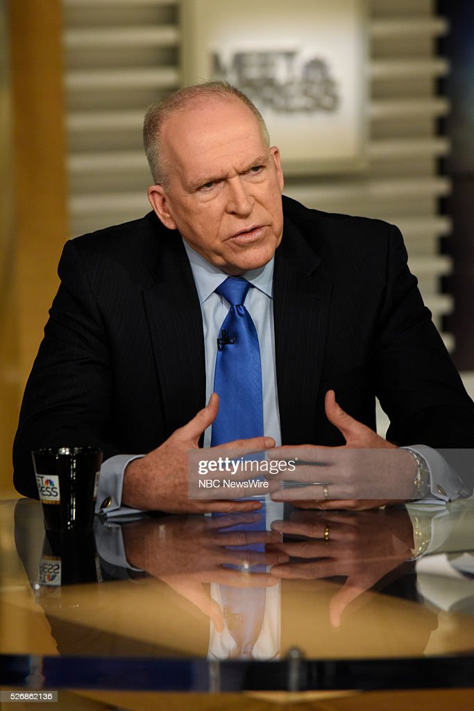 CIA Director John Brennan appears on 'Meet the Press' in Washington DC Sunday May 1 2016