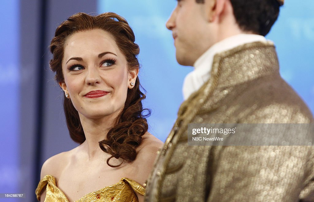 Cinderella's Laura Osnes and Santino Fontana appear on NBC News' 'Today' show on March 22, 2013 --