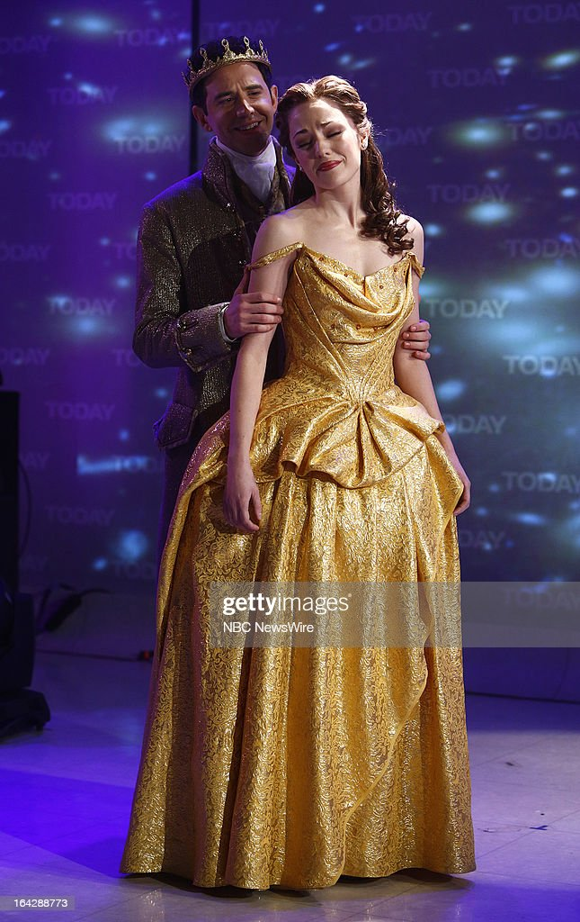 Cinderella's Santino Fontana and Laura Osnes appear on NBC News' 'Today' show on March 22, 2013 --