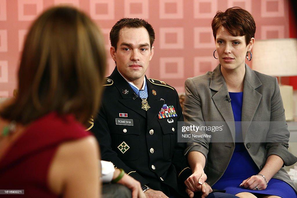Clinton Romesha and Tammy Romesha appear on NBC News' 'Today' show --