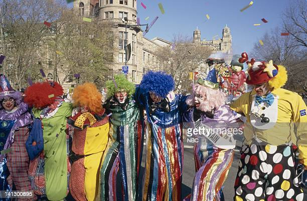 Clowns perform during the 1997 Macy's Thanksgiving Day Parade Photo by NBCU Photo Bank