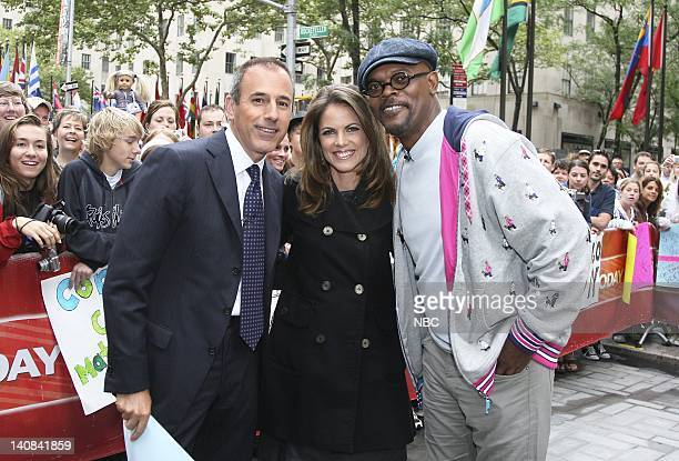 CoAnchor Matt Lauer and National Correspondent Natalie Morales speak with actor Samuel L Jackson about his new film 'Resurrecting the Champ' on NBC...