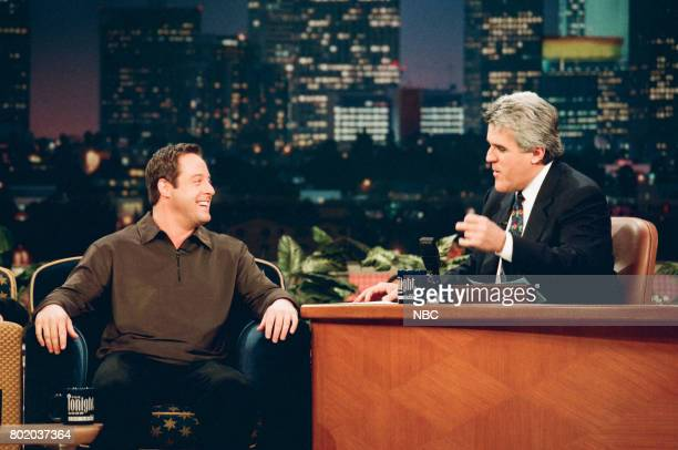 Comedian Gary Valentine during an interview with host Jay Leno on February 23 1998