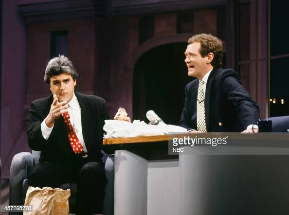 Comedian Jay Leno host David Letterman