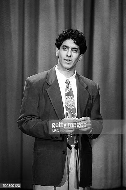 Comedian Jeff Cesario performs on April 19 1991