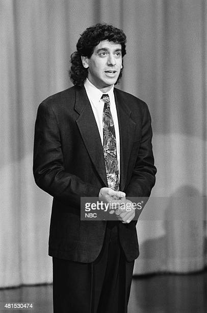 Comedian Jeff Cesario performs on January 4 1991