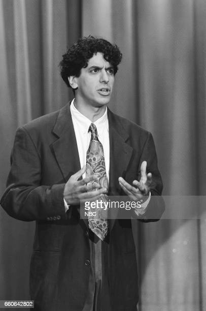Comedian Jeff Cesario performs on July 30 1991