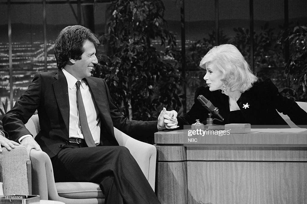 Comedian/actor Garry Shandling, guest host Joan Rivers on September 28, 1983 --