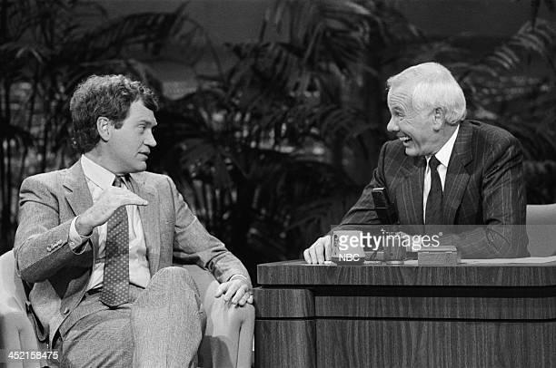 Comedian/talk show host David Letterman host Johnny Carson on October 23 1987