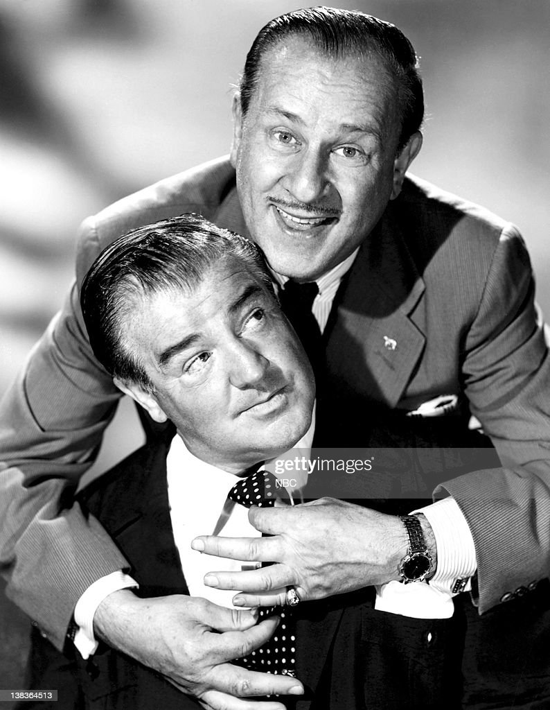 William 'Bud' Abbott, <a gi-track='captionPersonalityLinkClicked' href=/galleries/search?phrase=Lou+Costello&family=editorial&specificpeople=123845 ng-click='$event.stopPropagation()'>Lou Costello</a> in 1953 --