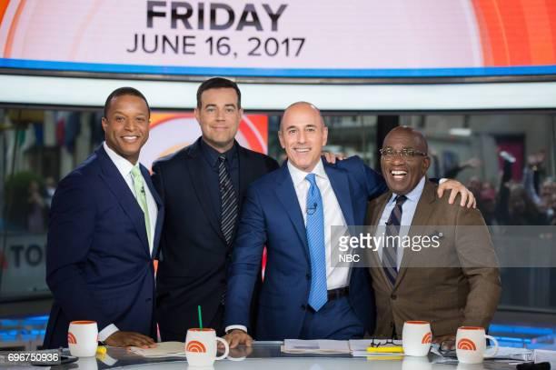 Craig Melvin Carson Daly Matt Lauer and Al Roker on Friday June 16 2017