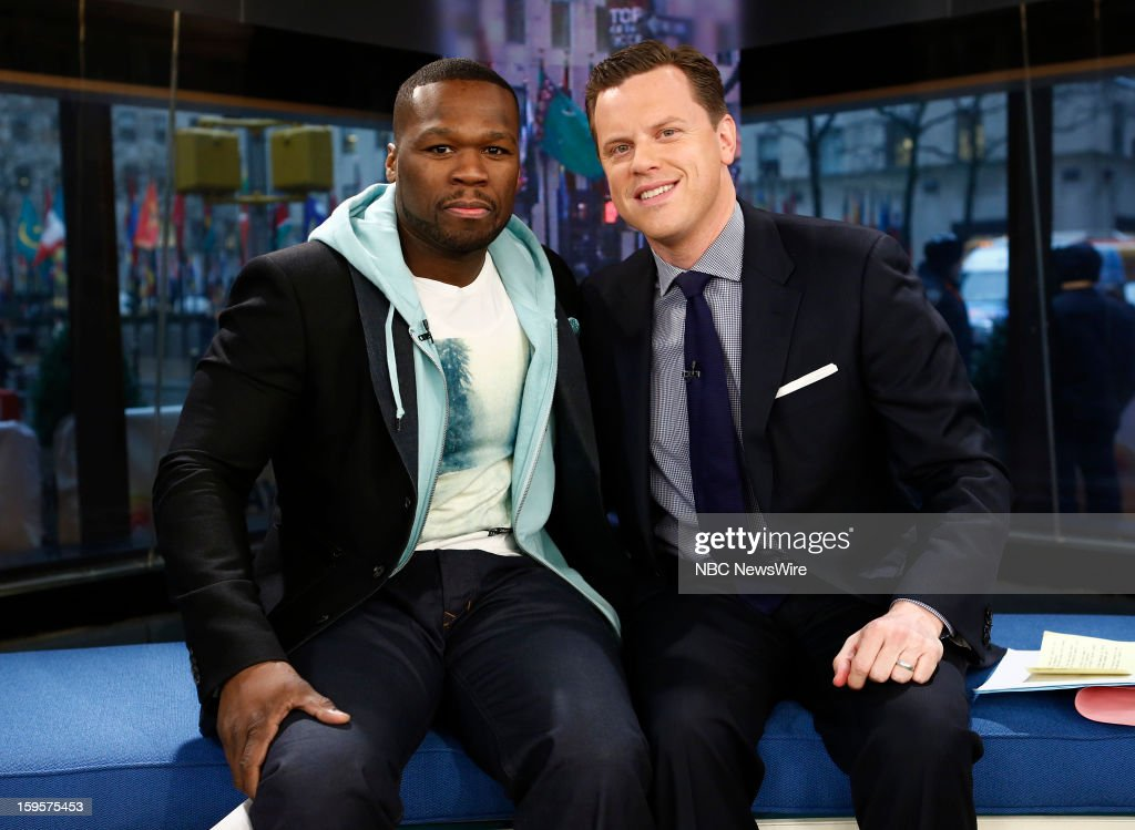 Curtis Jackson also known as '<a gi-track='captionPersonalityLinkClicked' href=/galleries/search?phrase=50+Cent+-+Rapper&family=editorial&specificpeople=215363 ng-click='$event.stopPropagation()'>50 Cent</a>', Savannah Guthrie, Willie Geist and Natalie Morales appear on NBC News' 'Today' show --