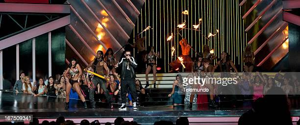 Daddy Yankee performs for the 2013 Billboard Latin Music Awards from Miami Florida at the BankUnited Center University of Miami April 25 2013