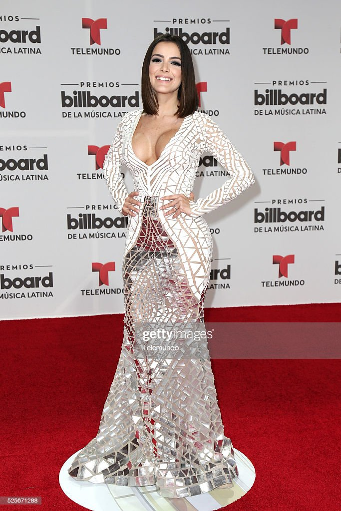 Daniela Navarro arrives at the 2016 Billboard Latin Music Awards at the BankUnited Center in Miami, Florida on April 28, 2016 --