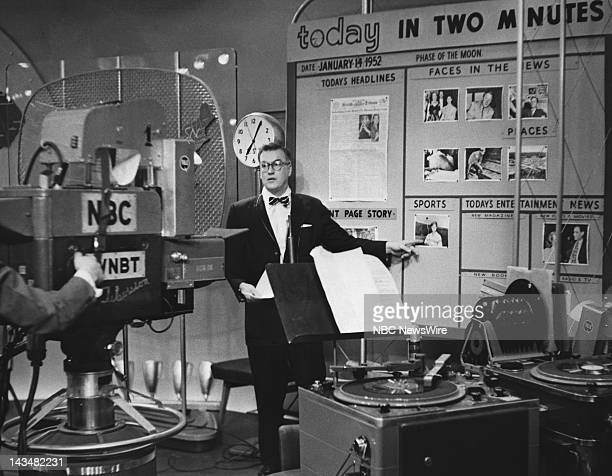 Dave Garroway on set during the taping of the first episode of the TODAY Show on January 141952
