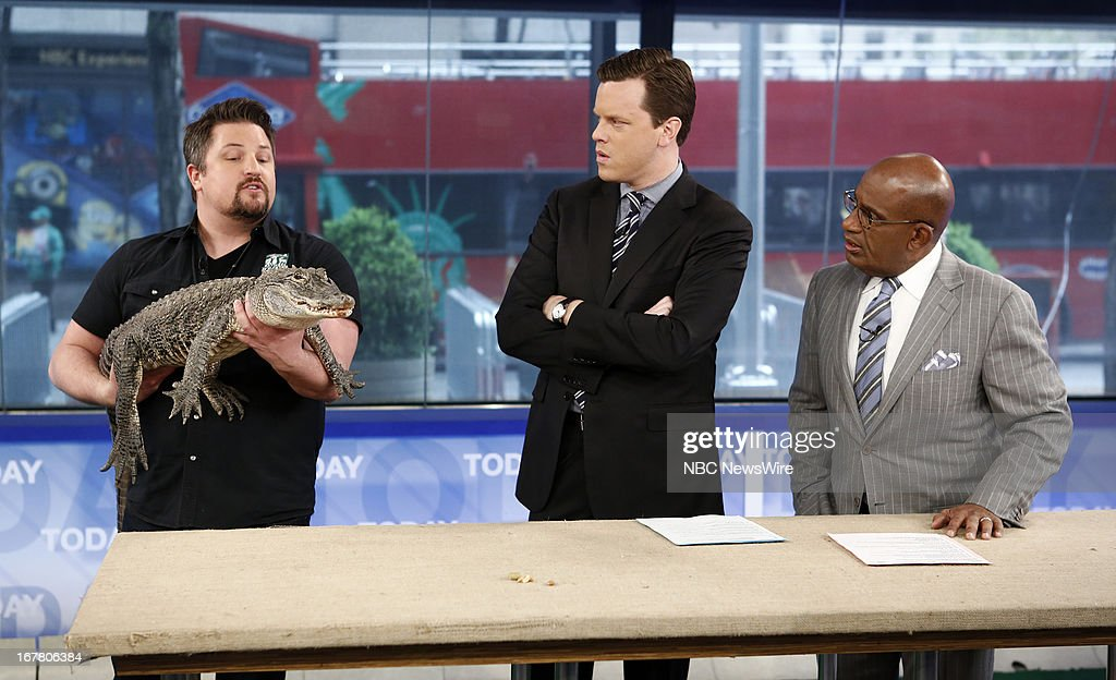 Dave Mizejewski, Willie Geist and <a gi-track='captionPersonalityLinkClicked' href=/galleries/search?phrase=Al+Roker&family=editorial&specificpeople=206153 ng-click='$event.stopPropagation()'>Al Roker</a> appear on NBC News' 'Today' show --