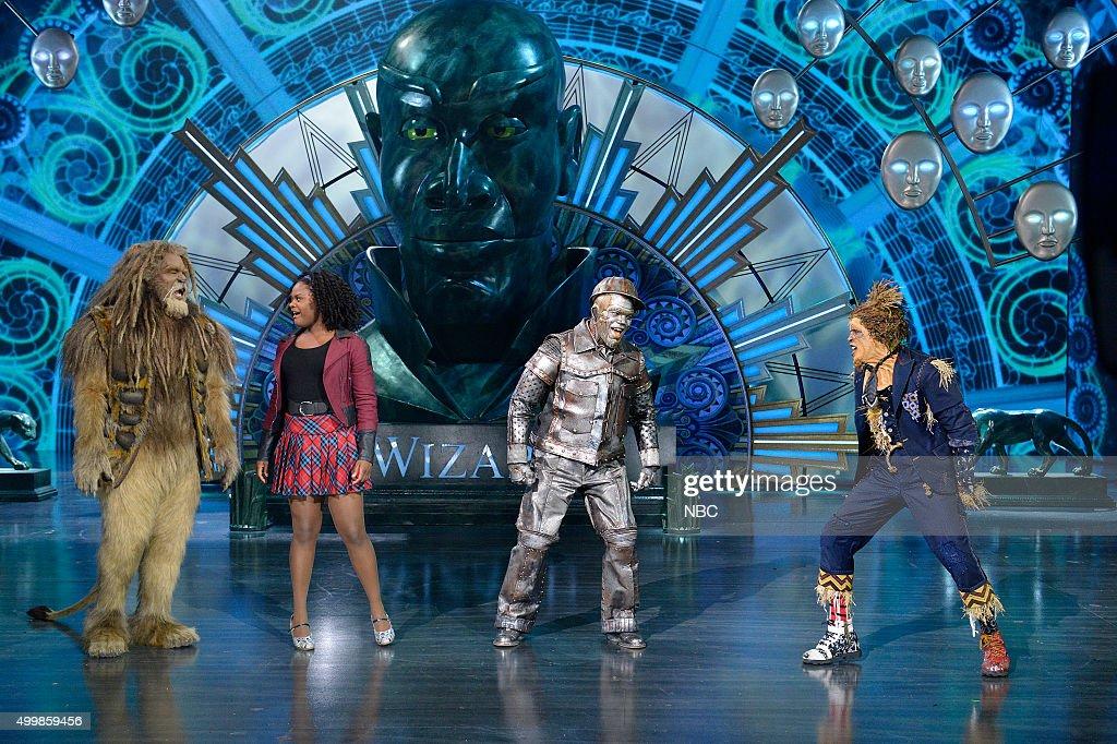 David Alan Grier as Lion, Shanice Williams as Dorothy, Ne-Yo as Tin-Man, Elijah Kelley as Scarecrow --